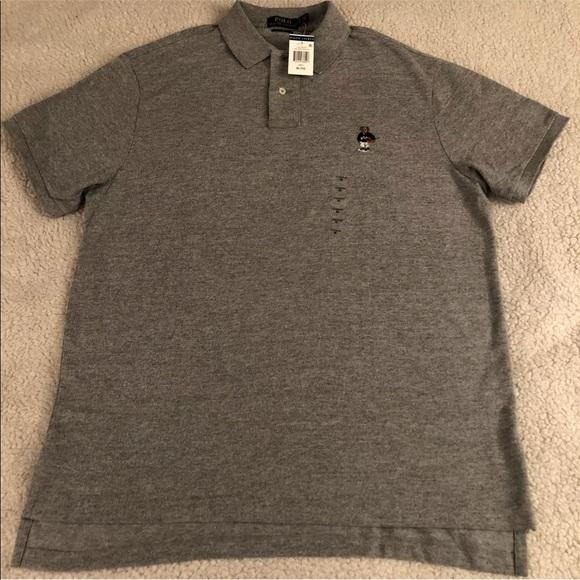 75ab451b7 POLO RALPH LAUREN Custom Fit Shirt Basketball Bear